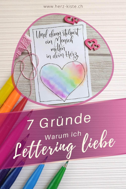7 Gründe warum ich Lettering liebe