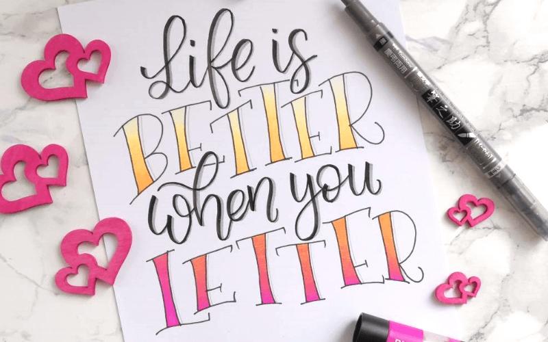 7 Gründe, warum ich Lettering liebe